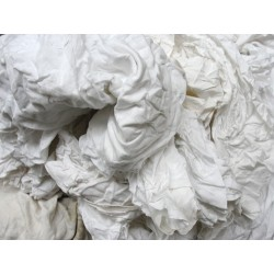 Chiffons coton blanc