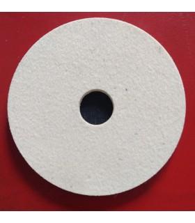 Feutre de polissage 100 mm x 5 mm - Fixation Velcro - Densité 640 pour Granit