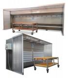 Cabines de dépoussiérage à eau ou à sec
