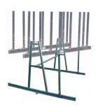 Chevalets et rails de stockage en métal